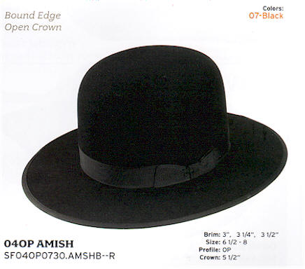 040P Amish by Stetson hats