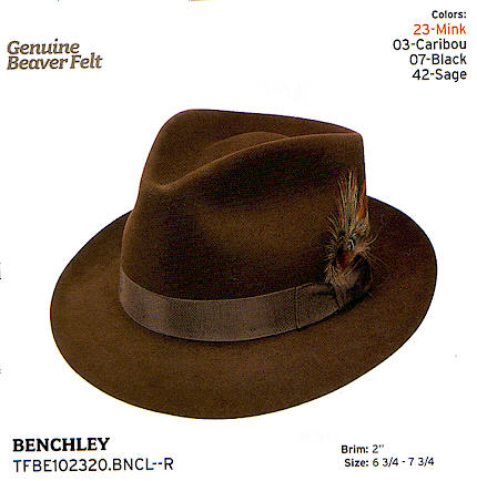 Benchley by Stetson hats