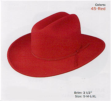 Big Red by Stetson hats