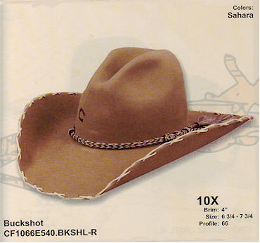 Buckshot by Charlie One Horse hats