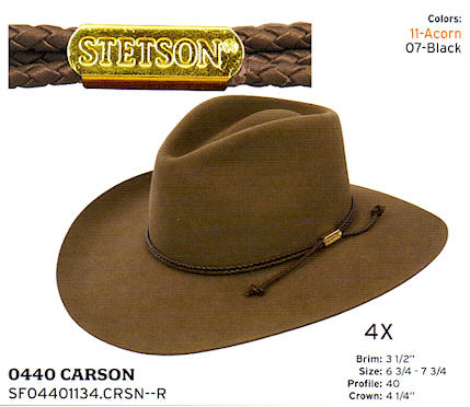 Carson hat by Stetson