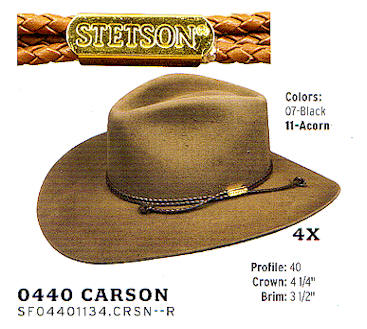 0440 Carson by Stetson hats