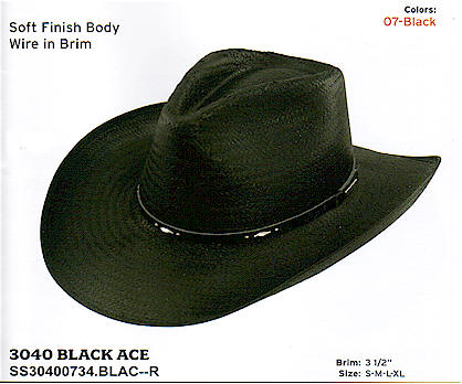 Black Ace by Stetson hats