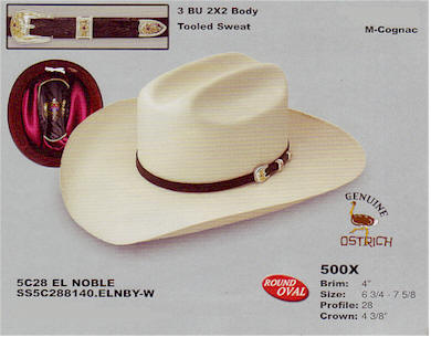 El Noble by Stetson hats