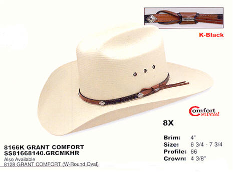 8166K Grant Comfort by Stetson hats