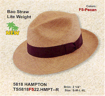 Bao Straw Hampton by Stetson hats