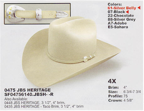 JBS Heritage by Stetson Hats