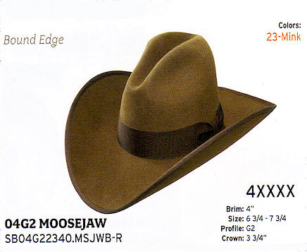MooseJaw by Stetson hats