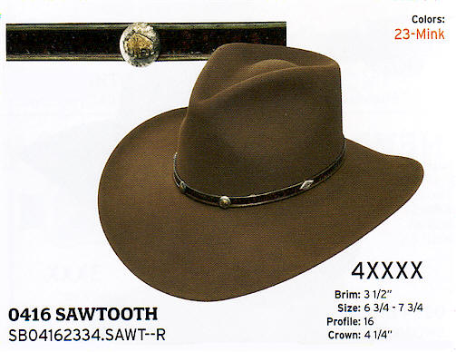 Sawtooth by Stetson hats