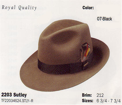 Sutley by Stetson hats