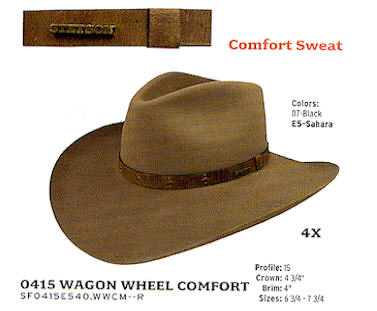 Wagon Wheel Comfort hat by Stetson