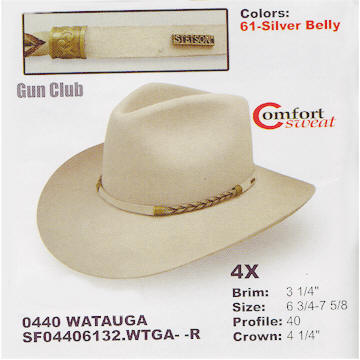 Watauga by Stetson hats