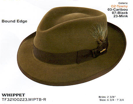 Whippet by Stetson hats