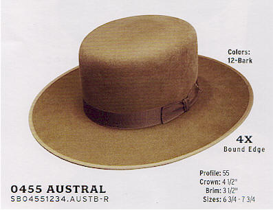 Austral buffalo hat by Stetson hats