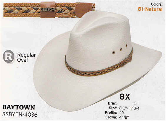 Baytown by Stetson hats