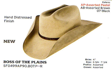 Boss of the Plains by Stetson hats