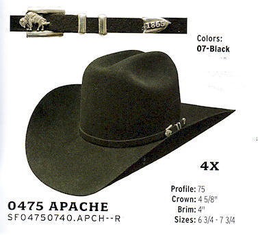 Apache by Stetson hats