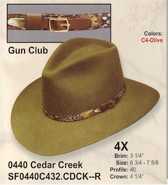 Cedar Creek by Stetson Hats