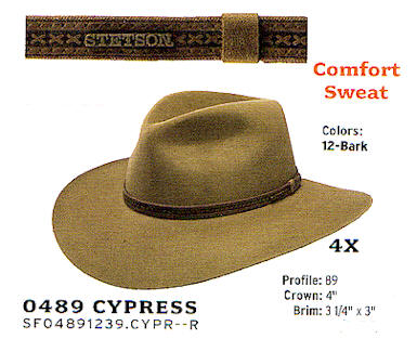 Cypress by Stetson hats