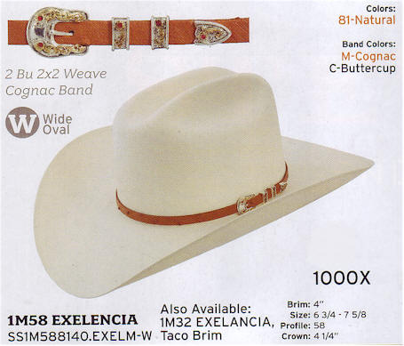 Exelencia by Stetson hats
