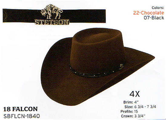 Falcon by Stetson hats