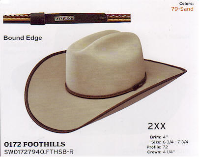 Foothills by Stetson hats