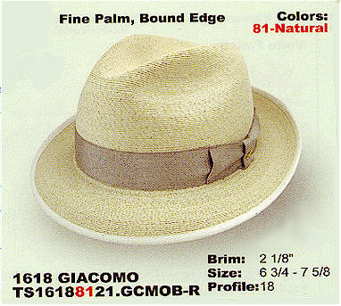 Giacomo by Stetson hats