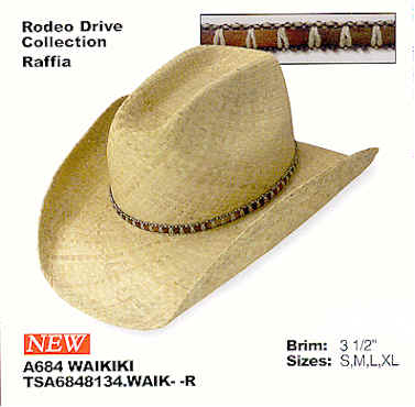 Waikiki by Stetson hats - Rodeo Drive Collection