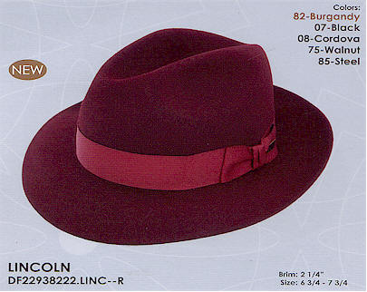 Lincoln by Dobbs hats