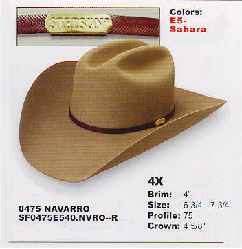 Navarro by Stetson hats