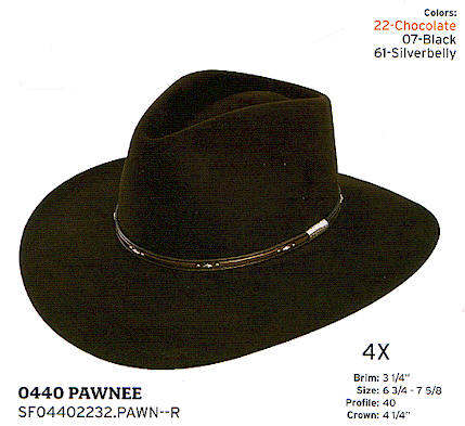 Pawnee by Stetson hats