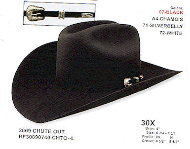 Chute Out Resistol Long Oval hat