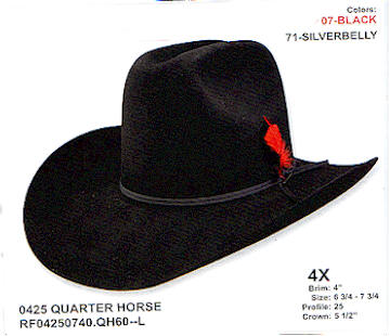 Quarter Horse by Resistol hats