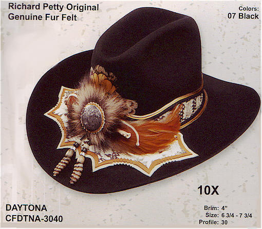 Richard Petty Daytona hat by Charlie One Horse
