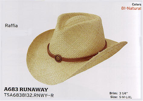 Runaway by Stetson hats