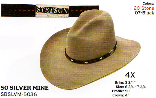 Silver Mine by Stetson Hats