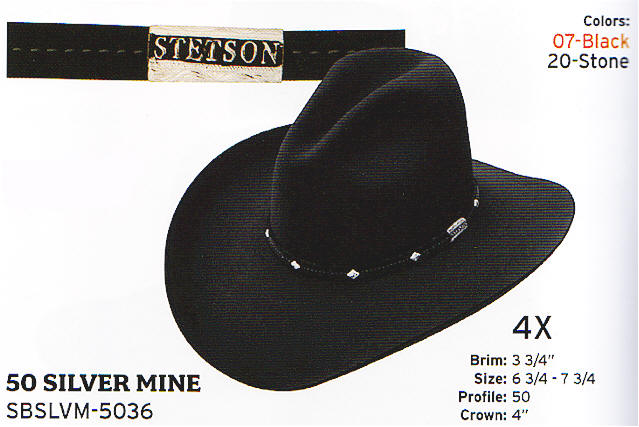 Silver Mine - Black by Stetson hats