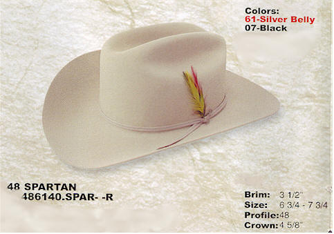 Spartan by Stetson hats