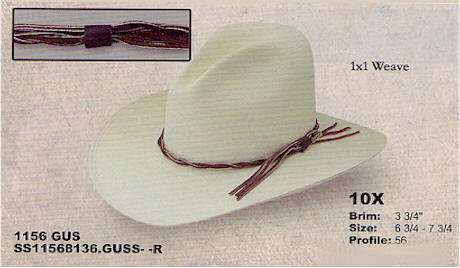 Straw Gus hat by Stetson