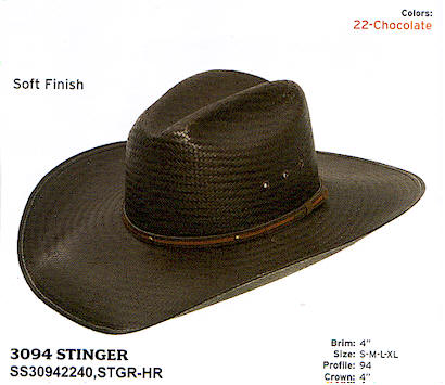 Brown Stinger by Stetson hats