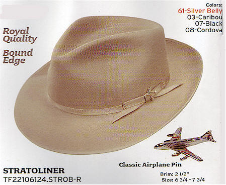Stratoliner by Stetson hats