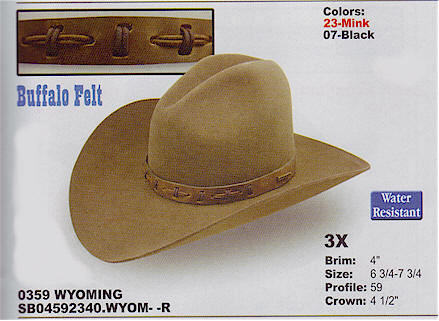 Wyoming by Stetson hats